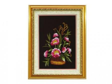 Tranh thêu hoa tnc0601