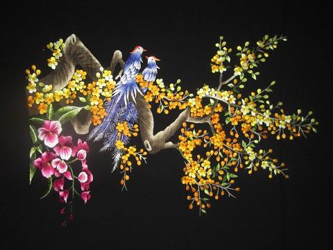 Tranh thêu hoa mai tnc0403