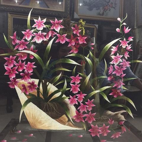 Tranh thêu hoa tnc0614