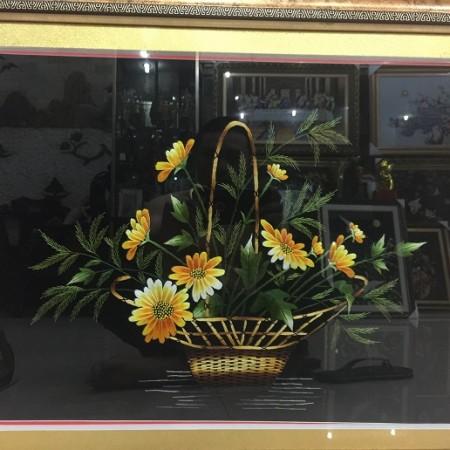 Tranh thêu hoa tnc0622