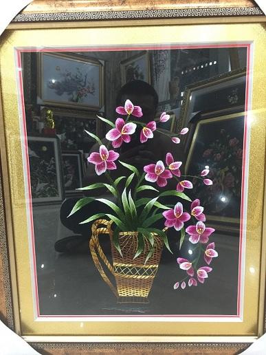 Tranh thêu hoa tnc0624
