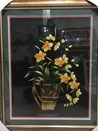 Tranh thêu hoa tnc0625