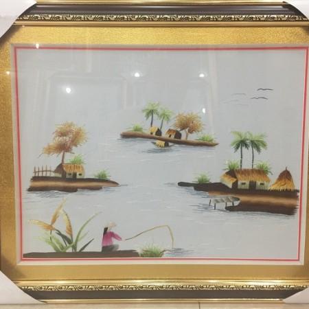 Tranh thêu đồng quê tnc0707