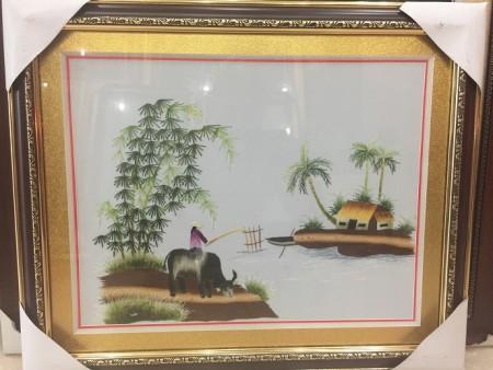 Tranh thêu đồng quê tnc0709