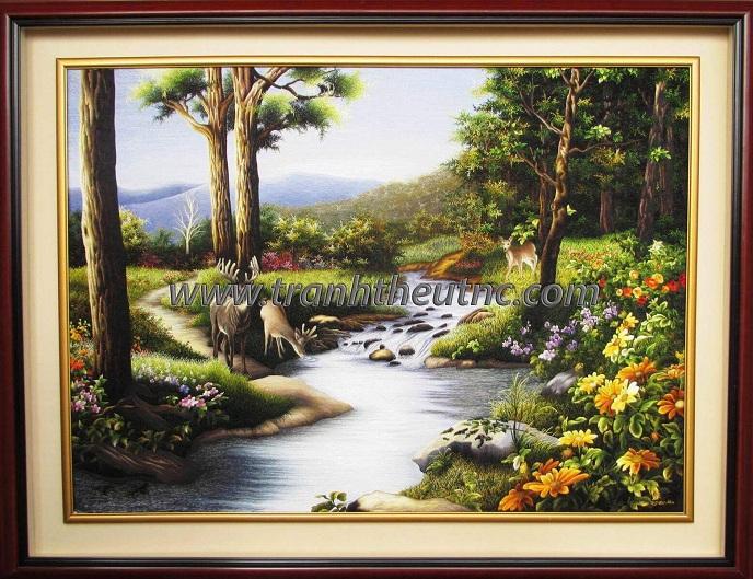 Tranh thêu Phong cảnh tnc1205