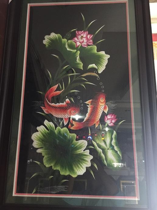 Tranh thêu Song ngư tnc0907