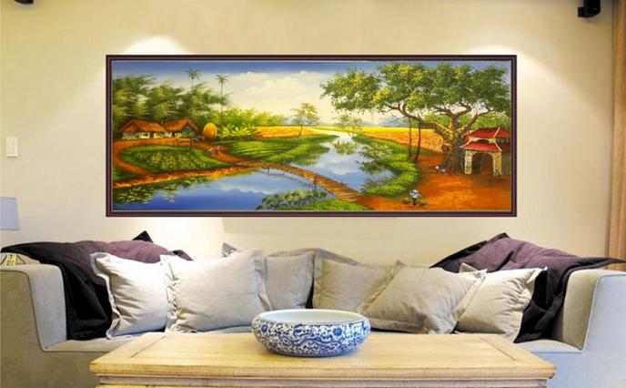 tranh thêu phong thủy mang tới điều tốt lành cho ngôi nhà