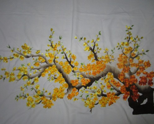 Tranh thêu hoa tnc0635