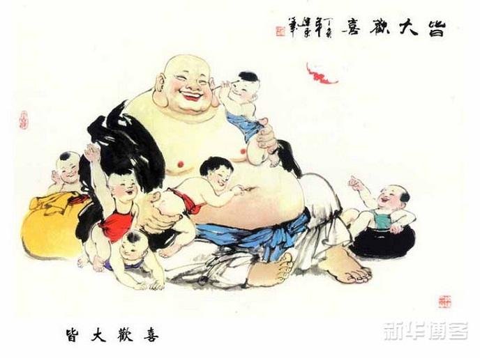 Đức Phật Di Lặc hiền hòa với nụ cười hoan hỷ