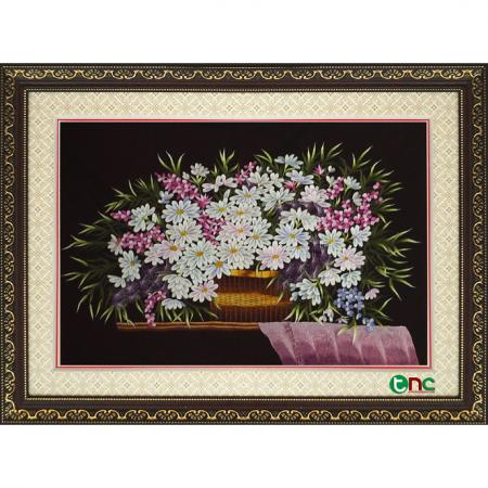 Tranh thêu Hoa Cúc tnc0603