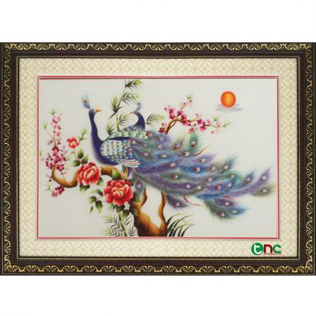 tranh thêu Đôi Công tnc1100