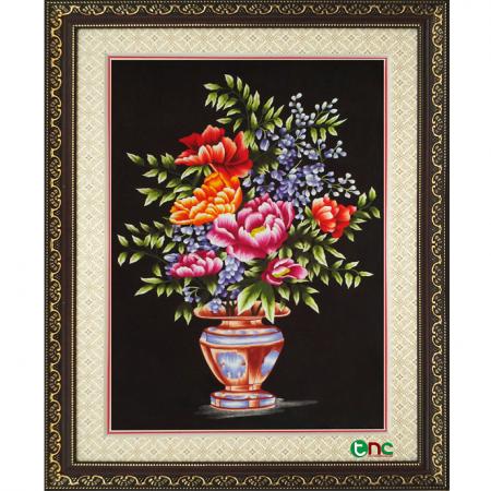 tranh thêu Hoa Mẫu Đơn tnc0605