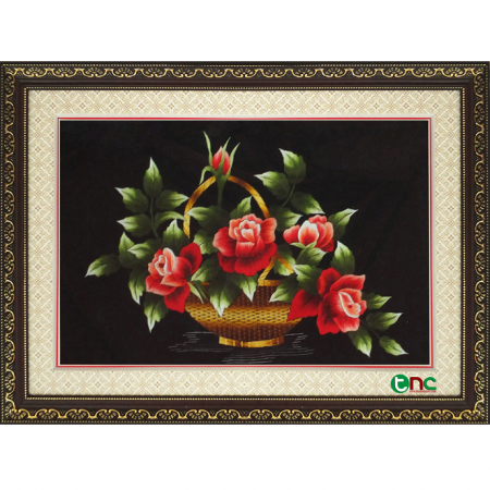 tranh thêu hoa hồng tnc0604
