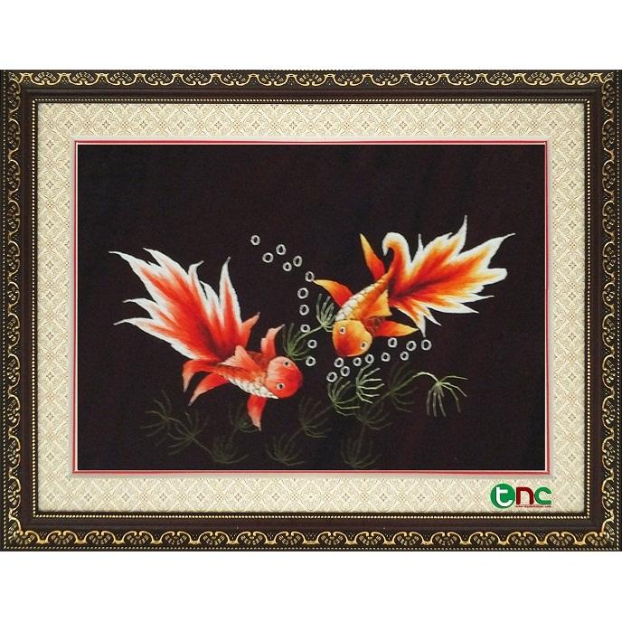 tranh thêu Song Ngư tnc0902