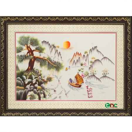 tranh thêu Thuận Buồm Xuôi Gió tnc1007