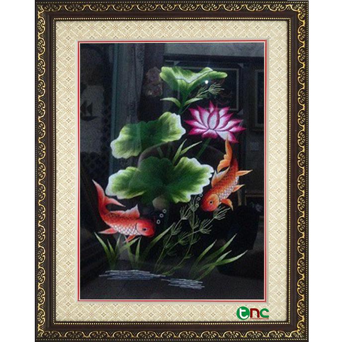 tranh thêu Song Ngư tnc0905