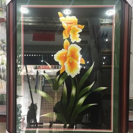 Tranh thêu hoa lan TNC0617