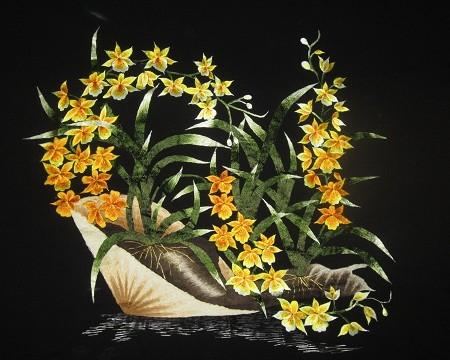 Tranh thêu hoa tnc0615