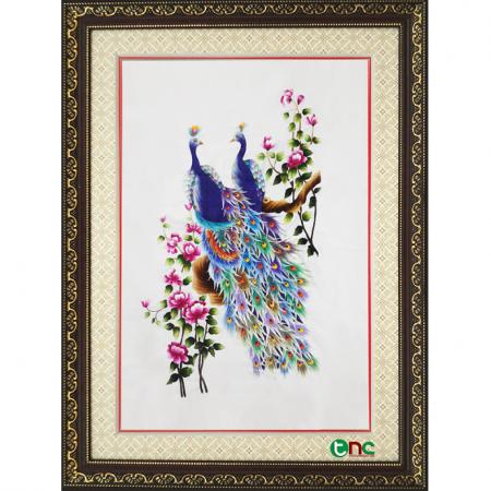 tranh thêu Đôi Công tnc1101