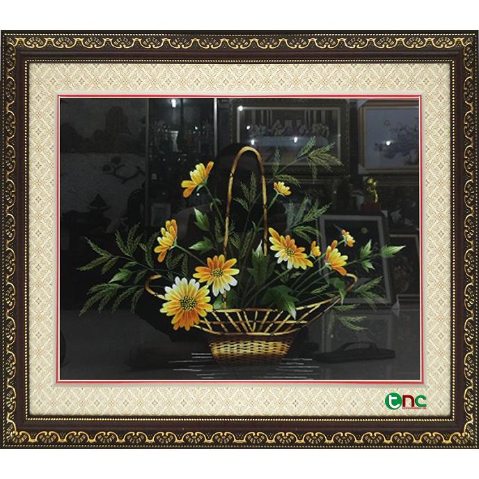tranh thêu Hoa Cúc tnc0622
