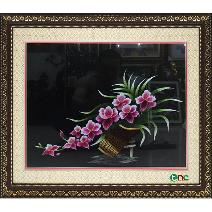 tranh thêu Hoa Lan tnc0623