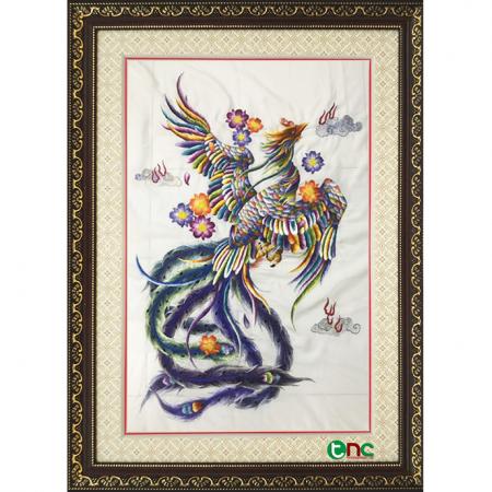 tranh thêu Phượng Hoàng tnc1105