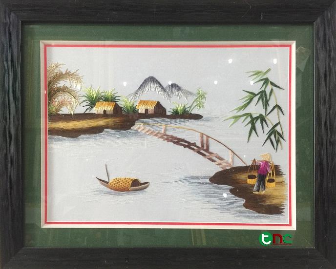 Tranh thêu Đồng Quê tnc0706