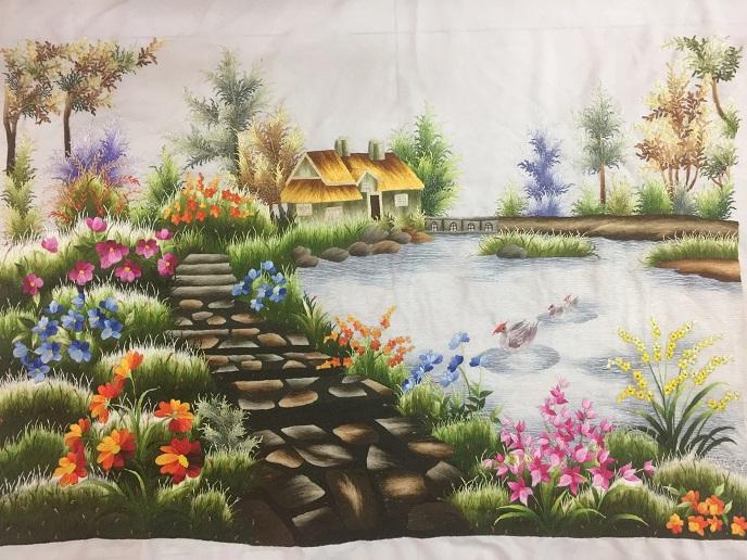 Tranh thêu Phong cảnh tnc1204