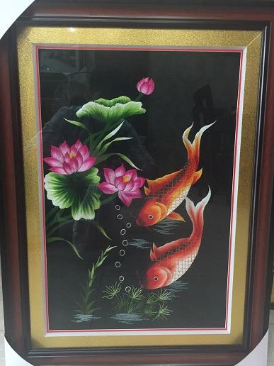 Tranh thêu Song Ngư TNC0906