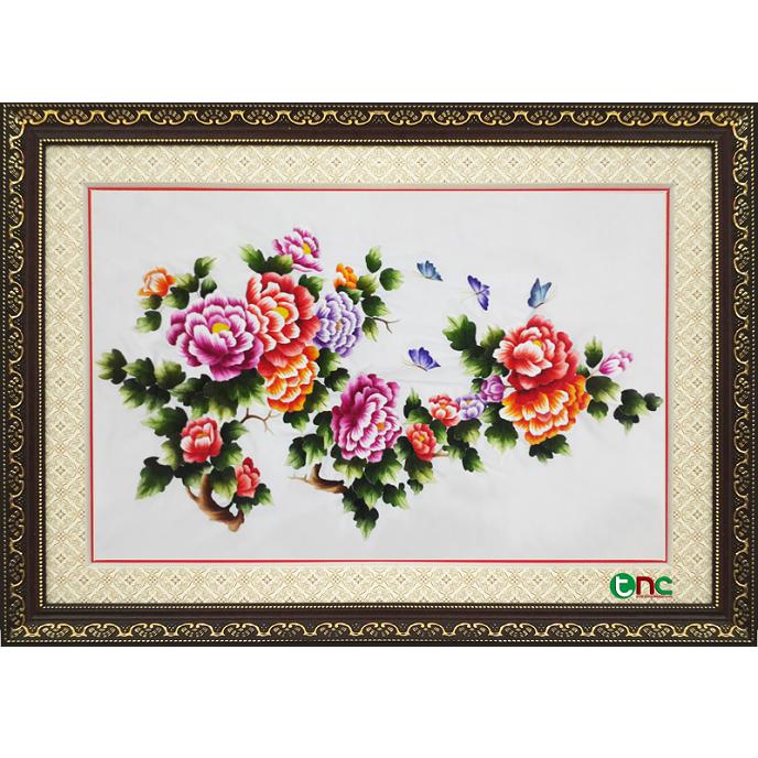 tranh thêu Hoa Mẫu Đơn tnc0630