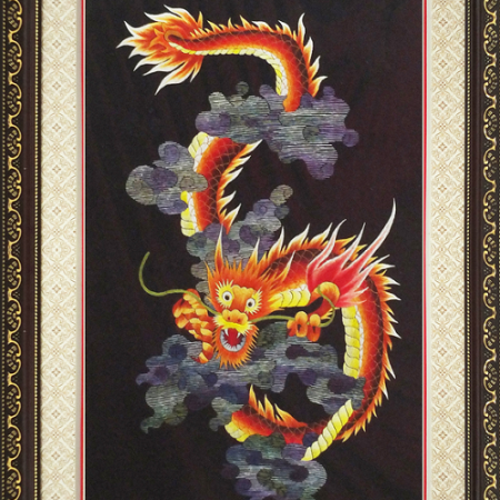 tranh thêu Rồng Vàng tnc1004