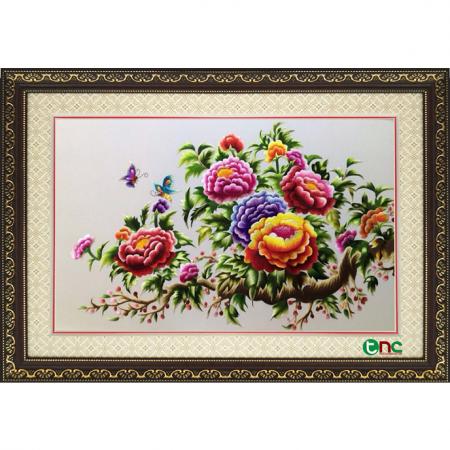 tranh thêu Hoa Mẫu Đơn tnc0631