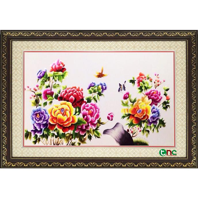 tranh thêu Hoa Mẫu Đơn tnc0632