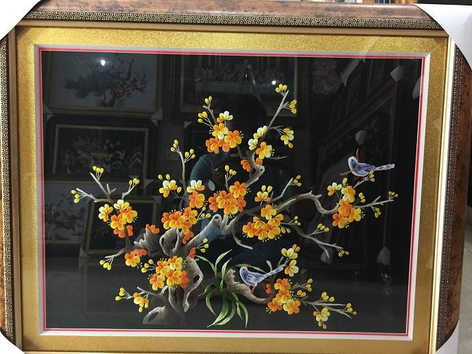 Tranh thêu hoa mai tnc0633