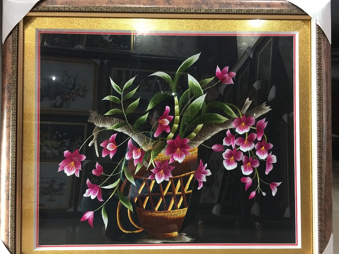 Tranh thêu hoa tnc0634