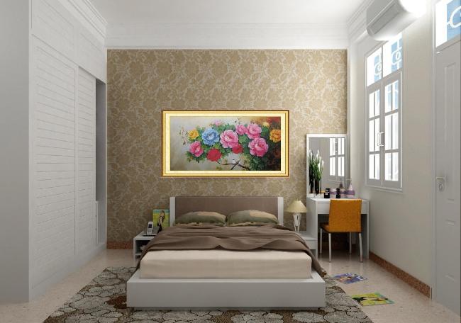tranh thêu trang trí phòng ngủ