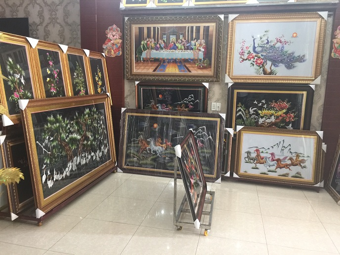 tranh thêu tay truyền thống tnc quận tân phú tphcm