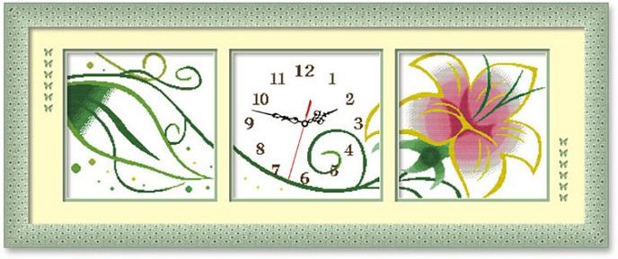 Những mẫu tranh đồng hồ đẹp với từng đường nét tỉ mỉ