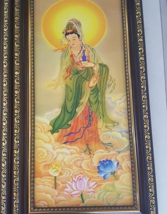 Tranh thêu tay Phật Bà Quan Âm