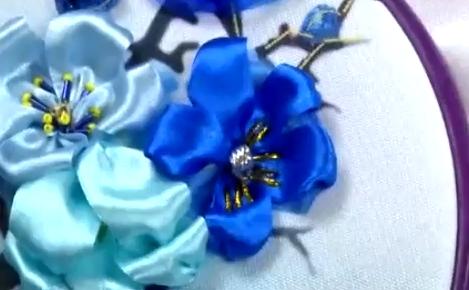 Sau khi hoàn tất ta có phần bông hoa như trong hình