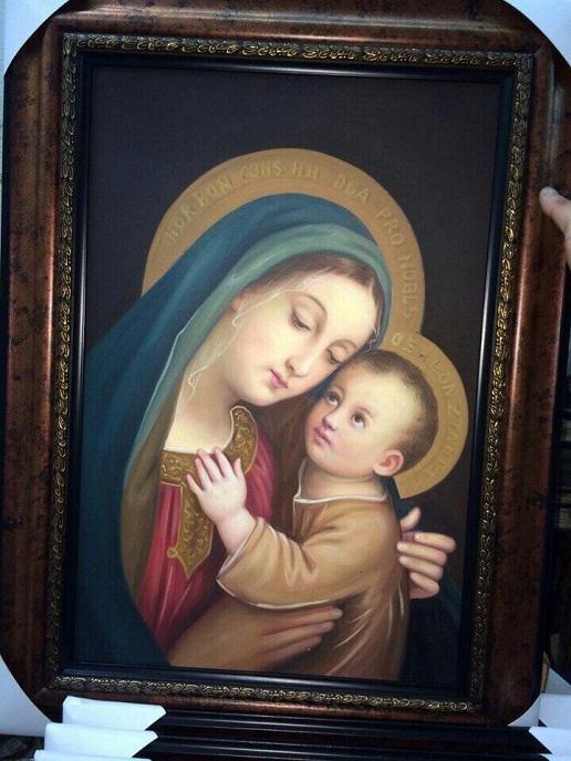 Tranh thêu tay Đức Mẹ Maria