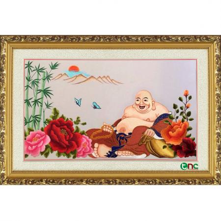 tranh thêu Phật Di Lặc tnc2102