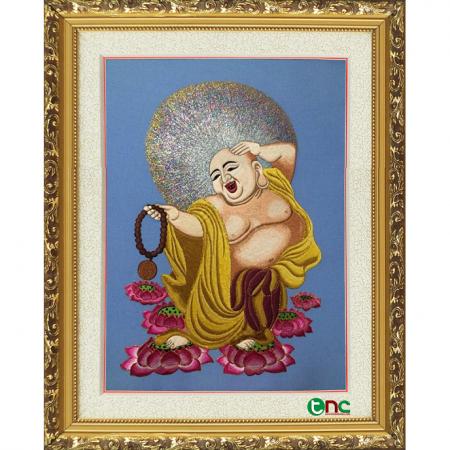 tranh thêu Phật Di Lặc tnc2107