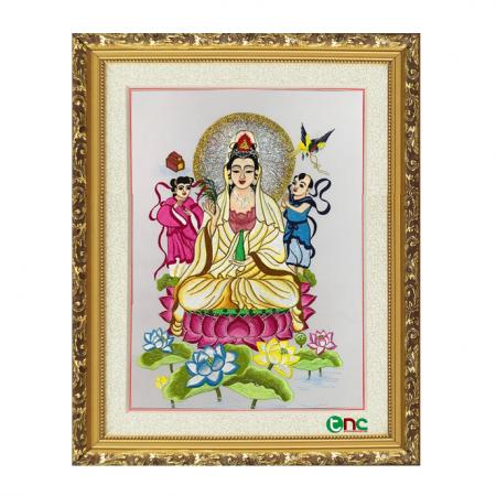 tranh thêu Phật Quan Âm tnc2100