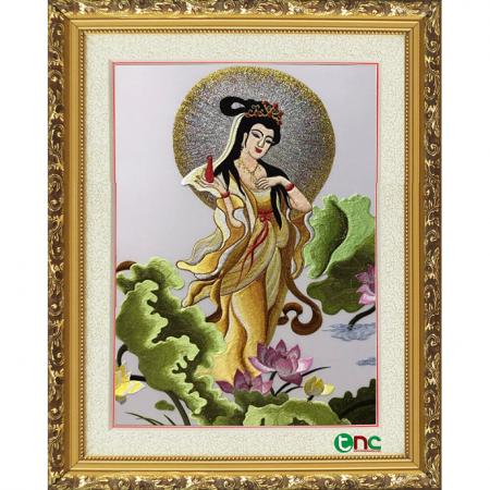 tranh thêu Phật Quan Âm tnc2103