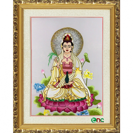 tranh thêu Phật Quan Âm tnc2104