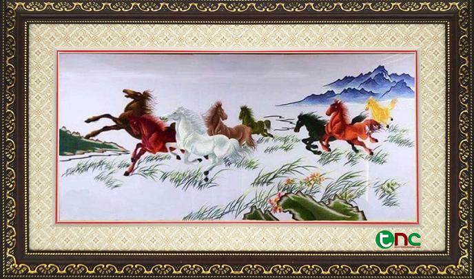 tranh thêu Mã Đáo Thành Công tnc0107