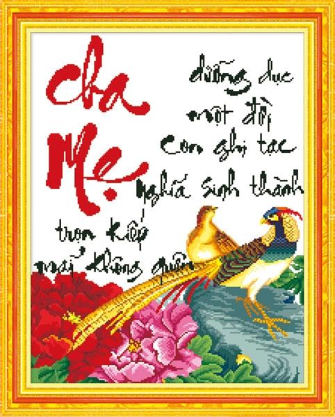 Tranh Thêu Cha Mẹ tnc02
