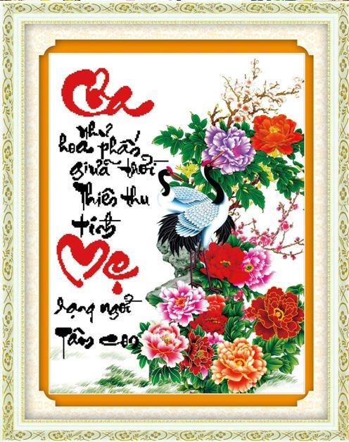 Tranh Thêu Cha Mẹ tnc03