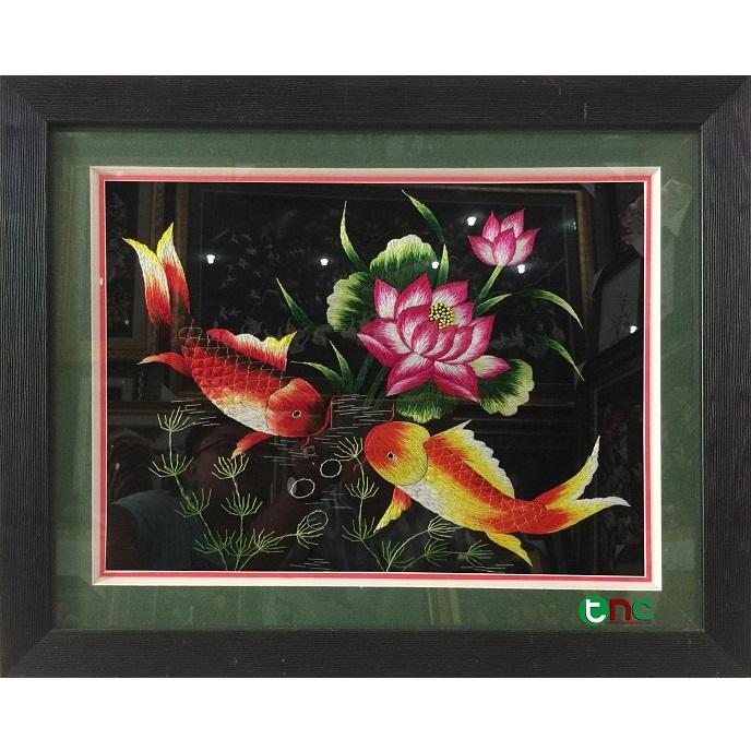 tranh thêu Song Ngư tnc0909